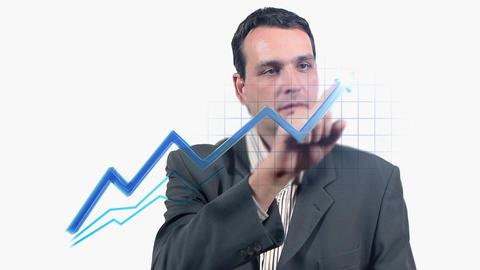 Virtual Graph Stock Video Footage