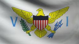 Virgin Islands flag Animation
