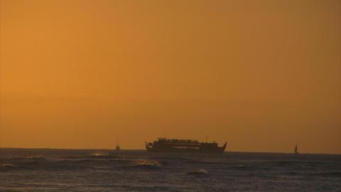 sunset beach04 Stock Video Footage