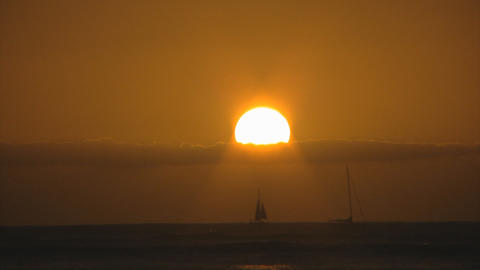sunset beach01 Stock Video Footage
