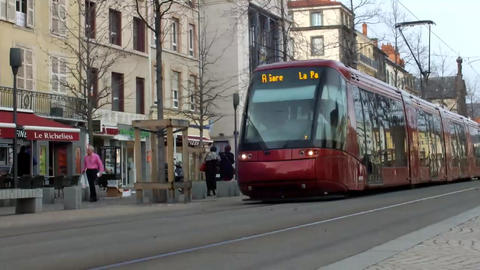 Tram Car mov 1 Stock Video Footage
