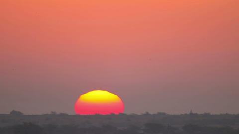 Indian Sunrise Stock Video Footage