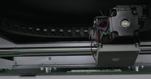 Internal print mechanism of 3D printer