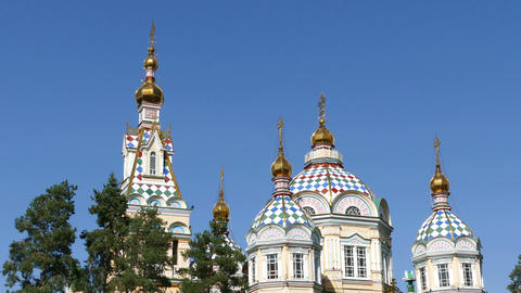 Dome Cathedral Almaty 4k Footage