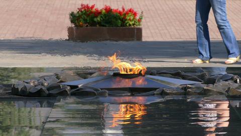 Eternal Flame Almaty2 4K Footage