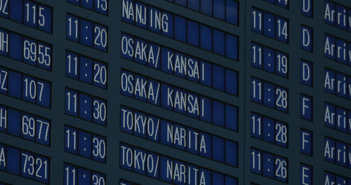 Flight schedule at the airport Live Action