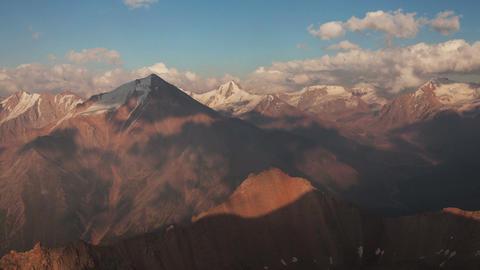 Mountain Ridges Sunset 4K Zoom Animation