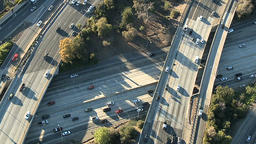 Aerial Highway Overpass Traffic Live影片