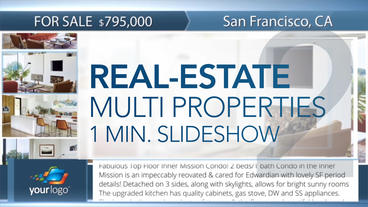 Real-Estate Multi Properties 1min Slideshow 2 - After Effects Template After Effects Project