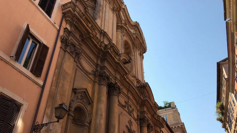 Buildings with old architecture in Rome Live Action