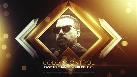 Gold Award Slideshow After Effects Template