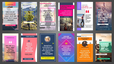 Quotes Instagram Stroies After Effects Template