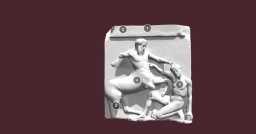 Parthenon Metope 3D Model