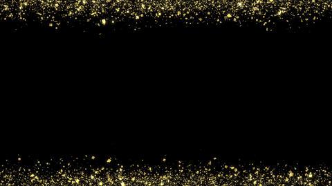 Golden-confetti-frame Black Animation