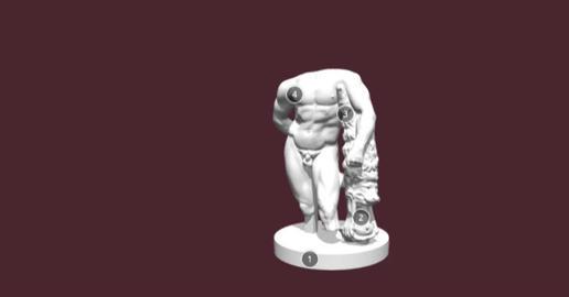 Hercules Farnese 3D Model