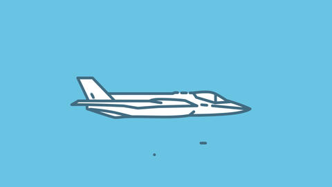 F-35 line icon on the Alpha Channel Animation