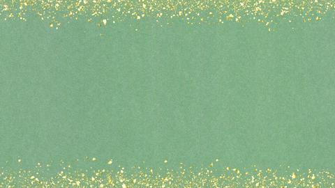 Golden-confetti-frame Green Animation