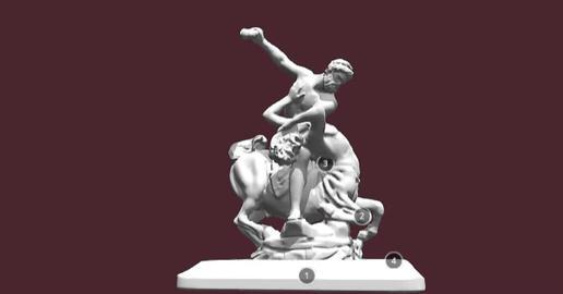 Hercules Giambologna 3D Model