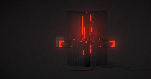 Dark red structure 3D Model