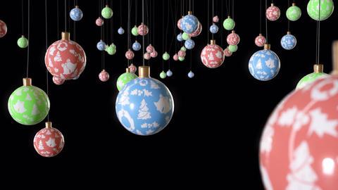 Dangling Christmas Balls Animation