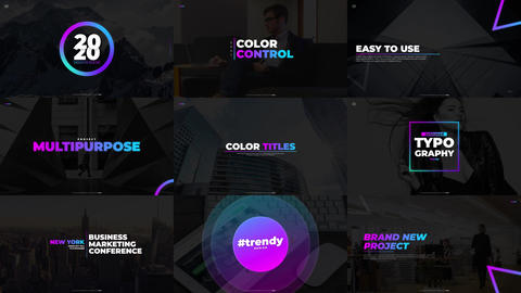 Gradient Titles (with BG) Motion Graphics Template