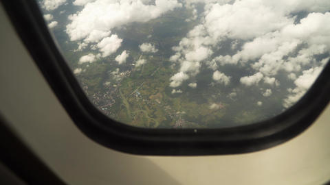 View from an airplane window Live Action