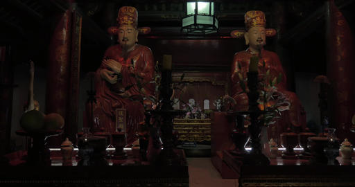 Inside the Temple of Confucius in Hanoi, Vietnam Footage