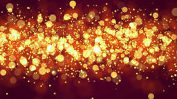 Beautiful Glittering Golden Particles Motion Background Animation