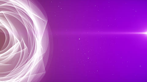 Abstract round geometric circle tunnel loop background Animation