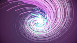 Colorful abstract round tunnel in blue and purple lines Animation