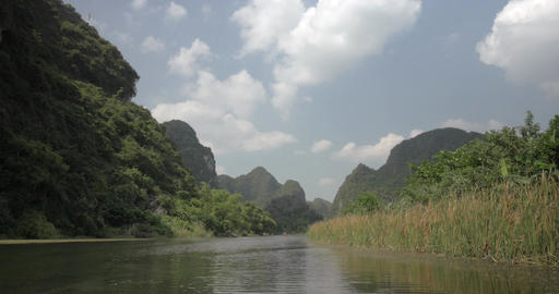 Wild nature of Trang An in Vietnam Footage