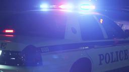 Police Car Lights Footage