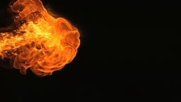Slow Motion Fire Blaze from the Left Footage