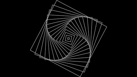 Expanding rotating squares Animation