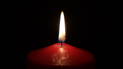 Candlelight lighting in red candle Live Action