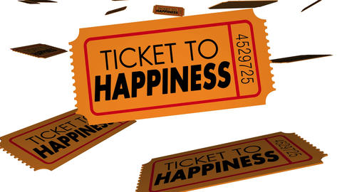 Ticket to happiness good happy feeling emotions 3d animation Live Action