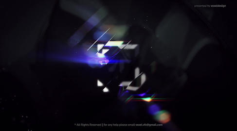 Glitch Shine Logos Reveal After Effects Template