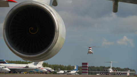 View of the apron of Kazan international airport Live Action
