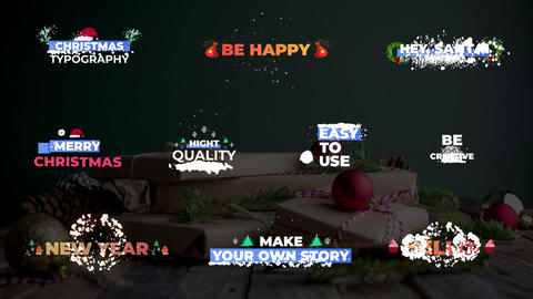 Christmas Snow Titles After Effects Template