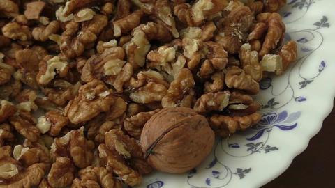 Walnut kernels in basket Footage