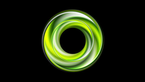 Green glossy circle motion graphic design Animation