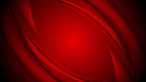 Abstract smooth red waves video clip design Animation