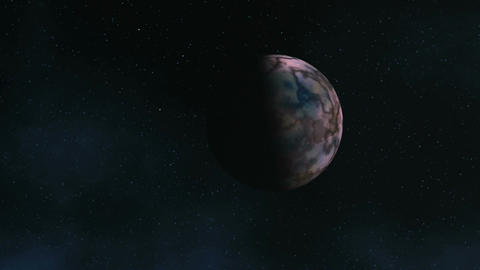 Approaching An Alien Planet Animation