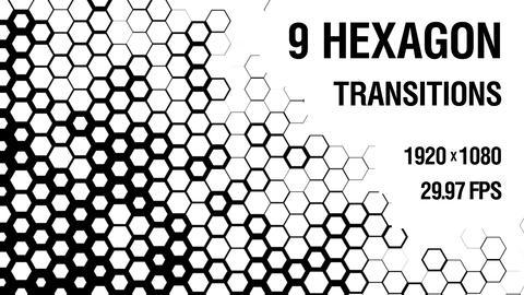 9-in-1 Hexagon Transition vol.1 Animation