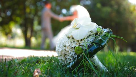 Beautiful wedding bouquet Footage