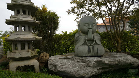Fo Guang Shan Monastery, buddha statue Footage
