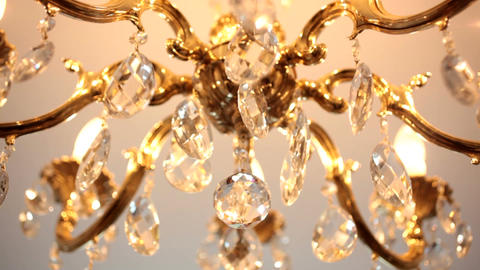Beautiful crystal chandelier Footage