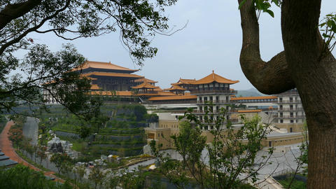 Fo Guang Shan Monastery, Private monks building Footage