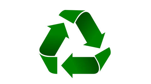Recycle icon animation with shaded green arrows Animation