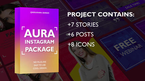 Aura Instagram Package After Effects Template